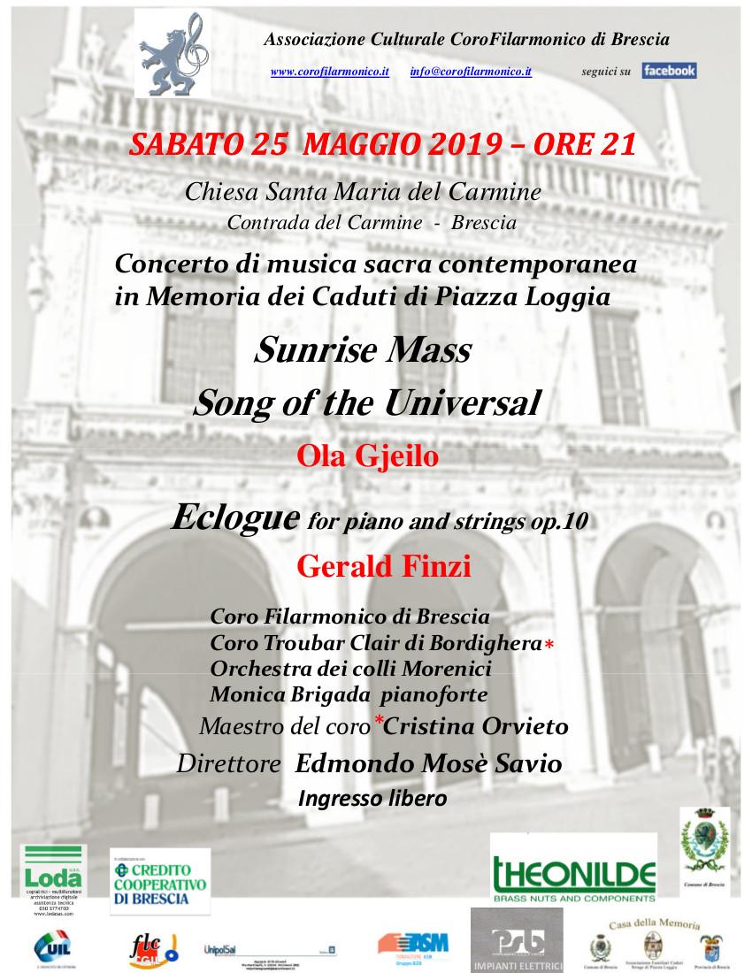 25 Maggio Sunrise Mass Coro Filarmonico